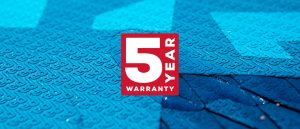Red Paddle Co 5 yr warranty